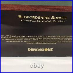 1995 Dimensions GOLD COLLECTION Cross Stitch Kit BEDFORDSHIRE SUNSET #3796