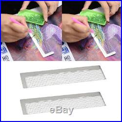 2pcs 5D Diamond Embroidery Painting Tools Stainless Steel Dot Drill Ruler