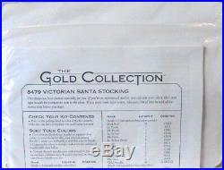 #8479 Dimensions Gold Rare Victorian Santa Stocking X-mas Cross Stitch Kit Nip