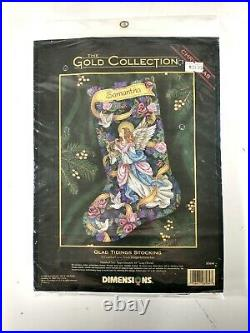 8564 Dimensions Gold Collection Cross Stitch Kit Glad Tidings Stocking 1998