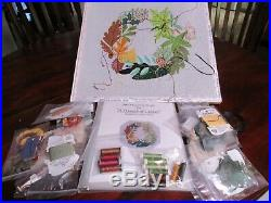 A Wreath Of Leaves -handpainted Needlepoint Canvas Kit. By Sydney Bates Gorgeous