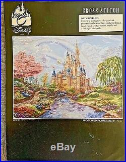 ART OF DISNEY Thomas Kinkade Castle Cross Stitch Kit RARE DISCONTINUED