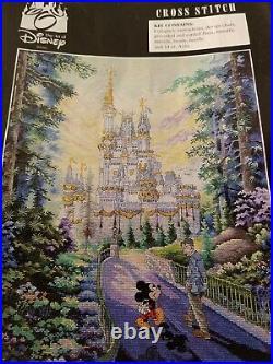 Art Of Disney Past, Present, Forever Cross Stitch Mickey Walt Cinderella Castle