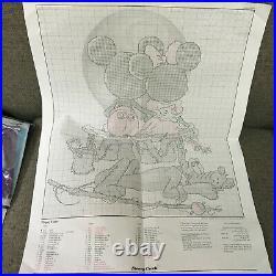 Art of Disney Mickey Mouse Minnie Pluto Puppy Love Cross Stitch Kit Walt OPENED