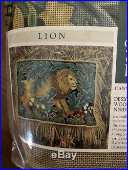 BETH RUSSELL WILLIAM MORRIS LION 17 X 23 Pillow NEEDLEPOINT KIT MSP$175