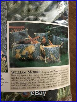 BETH RUSSELL WILLIAM MORRIS PEACOCK 23 X 16 Pillow NEEDLEPOINT KIT MSP$175