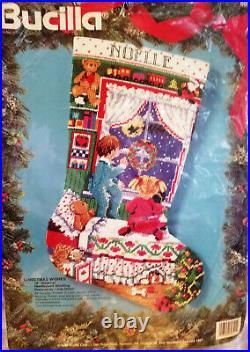 BUCILLA 60721 CHRISTMAS WISHES Needlepoint Stocking Kit Gillum Sealed