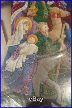 BUCILLATHE PROCESSION18Christmas Felt Stocking KIT-86055-RARE Jesus Nativity