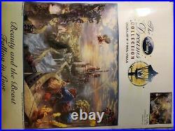 Beauty and the Beast Disney Dreams Cross Stitch Kit 52505 16x12 Thomas Kinkade