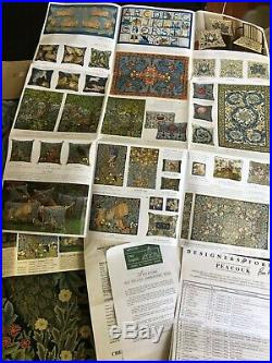 Beth Russell Needlepoint Peacock Kit William Morris Forest Tapestry Designers