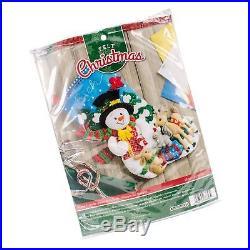 Bucilla 18-Inch Christmas Stocking Felt Applique Kit 86657 Forest Friends