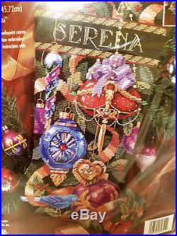 Bucilla 60742 Needlepoint ORNAMENTS OF CHRISTMAS Stocking Kit Sealed Rossi