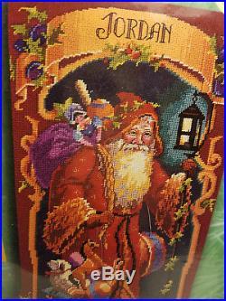 Bucilla 60769 Needlepoint FATHER CHRISTMAS Stocking Kit Sealed Rossi