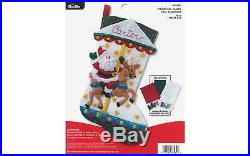 Bucilla 86934e Felt Kit Carousel Santa Stocking