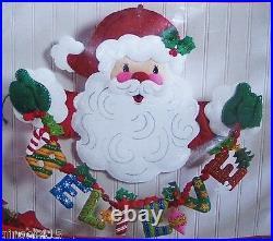 Bucilla BELIEVE IN SANTA Felt Christmas Wall Hanging Kit OOP Factory Direct RARE