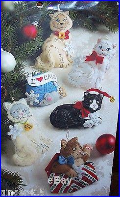 Bucilla Christmas Kitties Felt Cat Ornament Kit Factory Direct