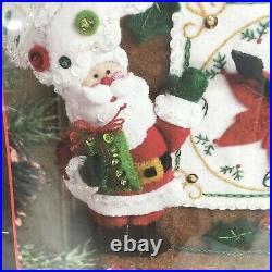 Bucilla CHRISTMAS TIME Felt Applique Kit Home Decor Sealed 86169 Stanziani