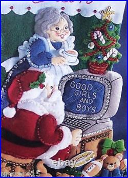 Bucilla COMPUTER SANTA WWW. COM Felt Christmas Stocking Kit 18 OOP RARE 83954