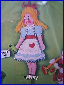 Bucilla Christmas Holiday Felt Applique Ornament Kit, ALICE IN WONDERLAND, 3389