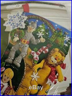 Bucilla Christmas In OZ 18 Felt Stocking Kit #86200 NEW