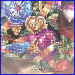 Bucilla Christmas Stocking ORNAMENTS OF CHRISTMAS Needlepoint Kit 60742 NEW
