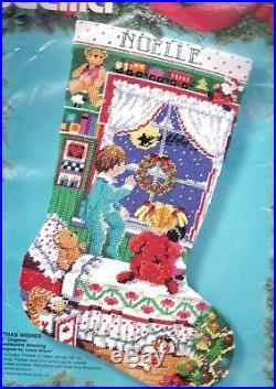 Bucilla Christmas Wishes Waiting for Santa Kids Needlepoint Stocking Kit 60721