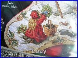 Bucilla Counted Cross Holiday Stocking KIT, NOSTALGIA, Snowman, Orton, 84635, Size 18