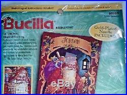 Bucilla Father Christmas Needlepoint Stocking Kit 60769 Nancy Rossi NIP Unused