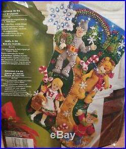 Bucilla Felt Applique Holiday Stocking Kit CHRISTMAS IN OZ Wizard 18