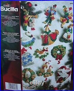 Bucilla Felt Jeweled Christmas Ornaments Kit Partridge In A Pear Tree 12 Days