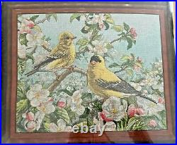 Bucilla Heirloom Collection GOLDFINCHES Counted Cross Stitch Kit 45576 NEW