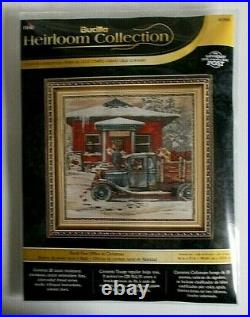 Bucilla Heirloom Rural Post Office at Christmas 45964 Counted Cross Stitch Kit