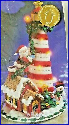 Bucilla Holiday Lighthouse Christmas Felt Centerpiece Kit #86057 Sealed