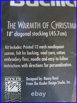 Bucilla Holiday Needlepoint Stocking Kit, THE WARMTH OF CHRISTMAS, Rossi, 60753,18