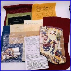 Bucilla I LOVE AMERICA Felt Christmas Stocking Kit Patriotic Santa 85430-A