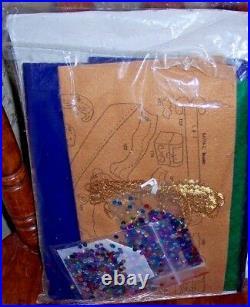Bucilla JOY TO THE WORLD Felt Holy Christmas Tree Skirt Kit RARE Sterilized