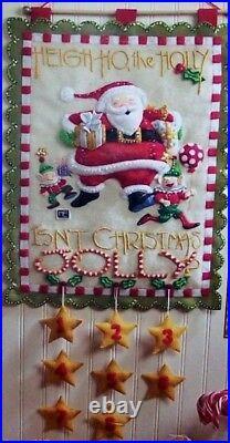 Bucilla Mary Engelbreit HEIGH HO SANTA Felt Christmas Advent Calendar Kit #86098