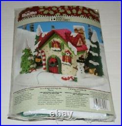 Bucilla Mary Engelbreit Mary's Snow Cottage Felt Christmas Kit 2009 NEW