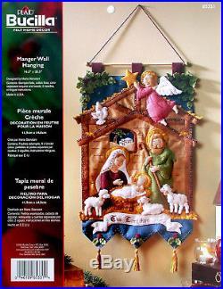 Bucilla Nativity Manger Felt Christmas Wall Hanging Kit #85331 Baby Jesus 2014