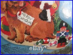 Bucilla Needlepoint Stocking Kit, CHRISTMAS CURIOSITY, Dog, Cat, Gillum, 18,60731