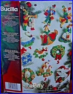 Bucilla Partridge in Pear Tree 12 Days of Christmas Felt Ornaments Kit Original