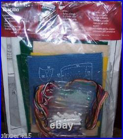 Bucilla ROCK & ROLL SANTA Felt Christmas Stocking Kit-MusicGuitar Sterilized OOP