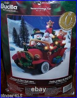 Bucilla SANTA'S VINTAGE CAR Felt Christmas Kit Lighted NEW RARE FACTORY DIRECT
