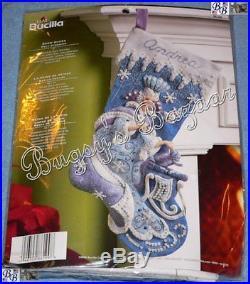 Bucilla SNOW QUEEN Stocking Felt Applique Christmas Kit FROZEN 86109