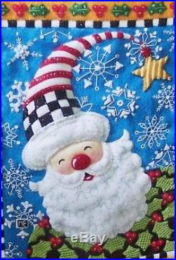 Bucilla SNOWFLAKE SANTA ENGELBREIT Felt Christmas Wall Hanging Kit OOP RARE