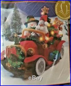 Bucilla Santa's Vintage Felt Car with Lights Kit Sealed