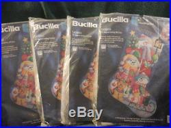 Bucilla Snowmen Needlepoint Christmas 18 Stocking Kit