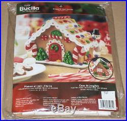 Bucilla / Stanziani Christmas 3D Gingerbread House Felt / Jeweled Kit NIP