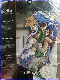 Bucilla THE PROCESSION Felt Christmas Stocking Kit -86055- New Discontinued