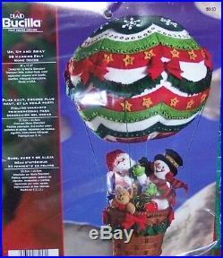 Bucilla UP UP & AWAY BALLOON Felt 3 D Christmas Hanging Kit-Factory Direct RARE